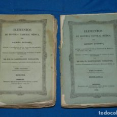 Libros antiguos: (MF) AQUILES RICHARD - ELEMENTOS DE HISTORIA NATURAL MEDICA, MINERALOGIA - ZOOLOGIA , MADRID 1846. Lote 164109562