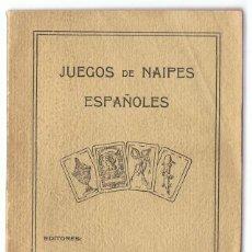 Libros antiguos: ANTIGUO LIBRO DE JUEGO DE NAIPES ESPAÑOLES H. FOURNIER AÑO 1933. Lote 164123642