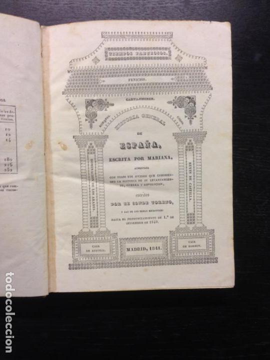 HISTORIA GENERAL DE ESPAÑA ESCRITA POR MARIANA, P. JUAN DE MARIANA, CONDE TORENO, 1841 TOMO XV Y XVI (Libros Antiguos, Raros y Curiosos - Historia - Otros)