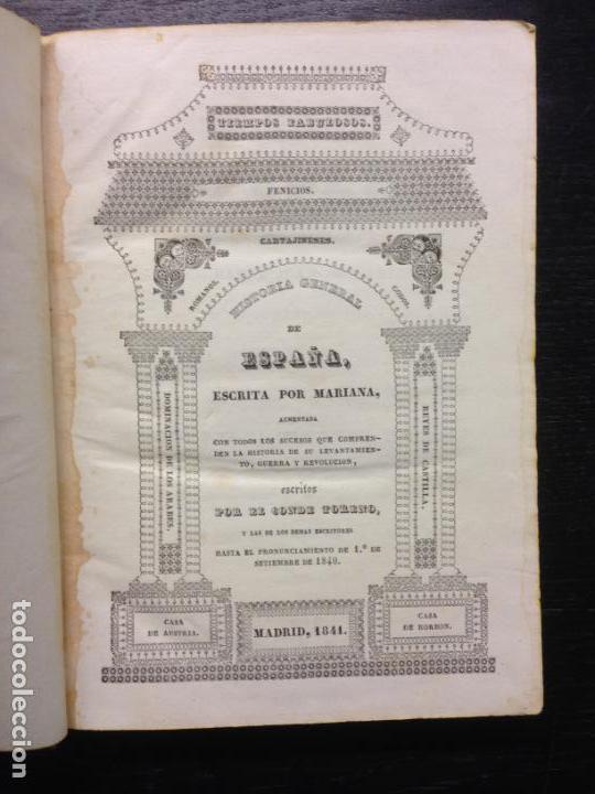 HISTORIA GENERAL DE ESPAÑA,P. MARIANA, CONDE TORENTO, 1841 (TOMO III Y IV) (Libros Antiguos, Raros y Curiosos - Historia - Otros)