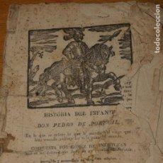 Libros antiguos: HISTORIA DEL INFANTE DON PEDRO DE PORTUGAL POR GÓMEZ DE SANTISTEVAN ,MURCIA AÑO 1841. 28 PÁGS. Lote 164205202