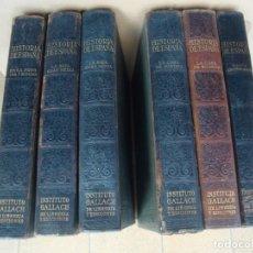 Libros antiguos: HISTORIA DE ESPAÑA -GRAN HISTORIA GENERAL DE LOS PUEBLOS HISPANOS -INSTITUTO GALLACH 6 TOMOS. Lote 164255922