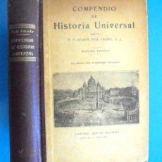 Libros antiguos: COMPENDIO DE HISTORIA UNIVERSAL RAMON RUIZ AMADO 1930 7A ED LIBRERÍA RELIGIOSA. ILUSTRADA GRABADOS. Lote 164592854