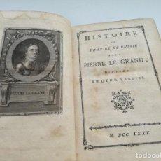 Libros antiguos: AÑO 1775: HISTORIA DEL IMPERIO DE RUSIA BAJO PEDRO EL GRANDE, OEUVRES DE VOLTAIRE, LIBRO SIGLO XVIII. Lote 164623050