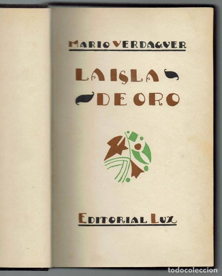 Libros antiguos: LA ISLA DE ORO, POR MARIO VERDAGUER DE TRAVESÍ. AÑO 1926. (MENORCA.1.4) - Foto 4 - 164793602