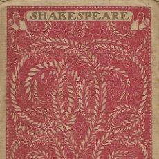 Libros antiguos: LAS MEJORES POESIAS (LÍRICAS) DE LOS MEJORES POETAS - IV SHAKESPEARE. Lote 164826734