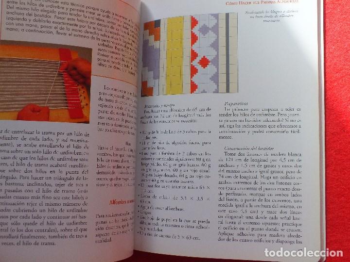 MANUAL ALFOMBRAS REALIZA TU PROPIA ALFOMBRA TEJIDA DE NUDOS... (Libros Antiguos, Raros y Curiosos - Ciencias, Manuales y Oficios - Otros)