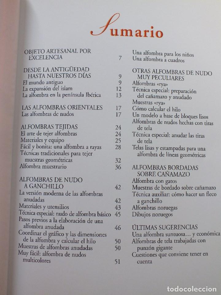 Libros antiguos: MANUAL ALFOMBRAS REALIZA TU PROPIA ALFOMBRA TEJIDA DE NUDOS... - Foto 4 - 164959010