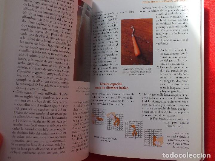 Libros antiguos: MANUAL ALFOMBRAS REALIZA TU PROPIA ALFOMBRA TEJIDA DE NUDOS... - Foto 6 - 164959010