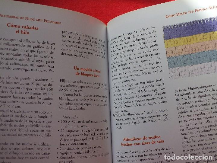 Libros antiguos: MANUAL ALFOMBRAS REALIZA TU PROPIA ALFOMBRA TEJIDA DE NUDOS... - Foto 7 - 164959010