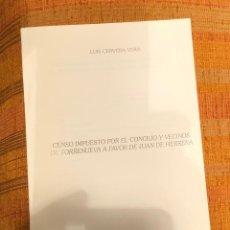 Libros antiguos: CENSO IMPUESTO POR EL CONCEJO Y VECINOS DE TORRENUEVA A FAVOR DE JUAN DE HERRERA-LCV(13€). Lote 164969954