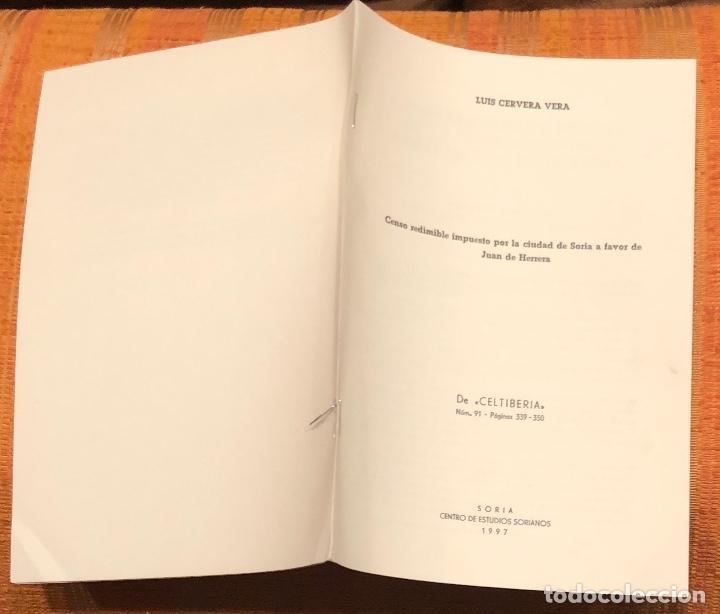 Libros antiguos: Censo redimible impuesto por la ciudad de Soria a favor de Juan de Herrera-LCV(13€) - Foto 3 - 164970026