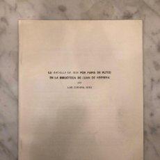 Libros antiguos: LA BATALLA DE DOS POR PARÍS DE PUTEO EN LA BIBLIOTECA DE JUAN DE HERRERA(13€). Lote 164972206