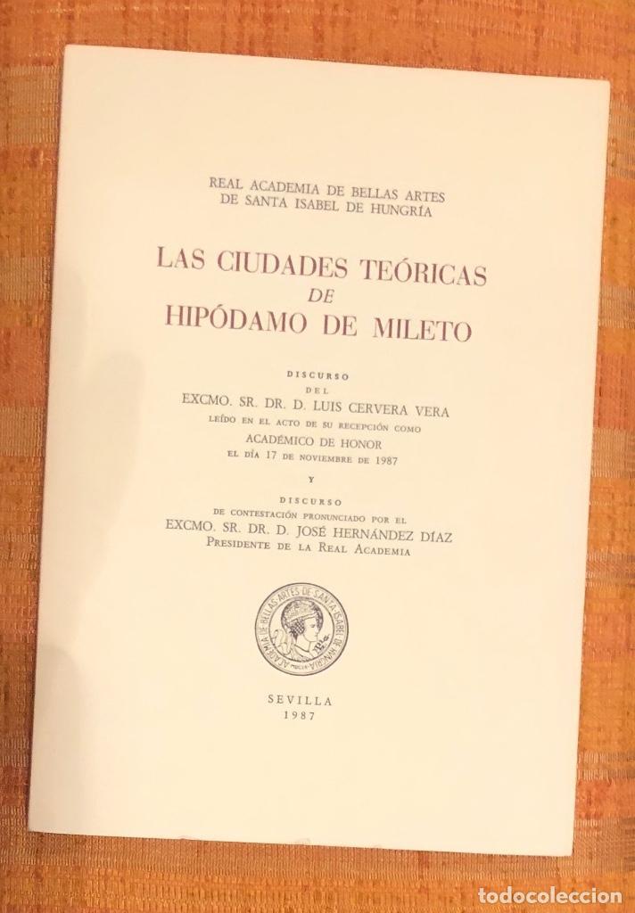 LAS CIUDADES TEÓRICAS DE HIPODAMO DE MILETO-RABASF-LCV(56€) (Libros Antiguos, Raros y Curiosos - Bellas artes, ocio y coleccionismo - Otros)