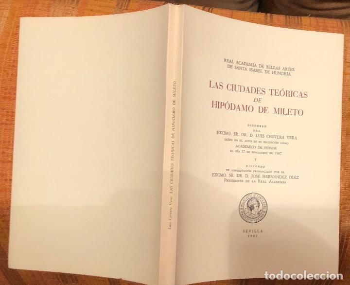Libros antiguos: Las ciudades teóricas de Hipodamo de Mileto-RABASF-LCV(56€) - Foto 5 - 164972666