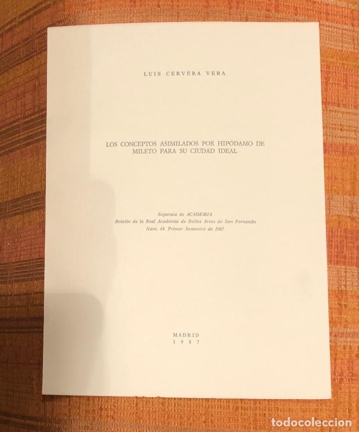 LOS CONCEPTOS ASIMILADOS POR HIPODAMO DE MILETO PARA SU CIUDAD IDEAL-RABASF-LCV(13€) (Libros Antiguos, Raros y Curiosos - Bellas artes, ocio y coleccionismo - Otros)