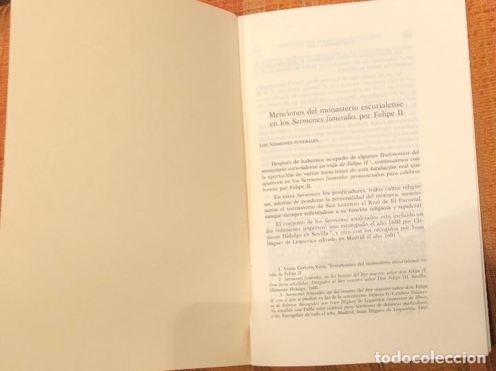 Libros antiguos: Menciones del monasterio escurialense en los sermones funerales por Felipe II-LCV(13€) - Foto 2 - 164973350
