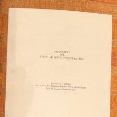 Libros antiguos: NECROLOGÍA DEL EXCMO. SR. DON LUIS CERVERA VERA -LCV(13€). Lote 164973662