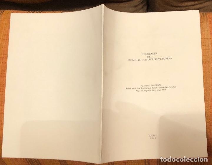 Libros antiguos: Necrología del EXCMO. Sr. Don Luis Cervera Vera -LCV(13€) - Foto 3 - 164973662