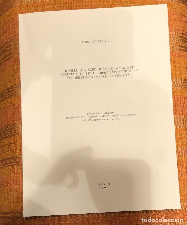 PRIVILEGIOCONCEDIDOPORSENADOVENECIA AJUANHERRERA PARA IMPRIMIRYYVENDER SUS ESTAMPASESCORIAL-LCV(13€) (Libros Antiguos, Raros y Curiosos - Bellas artes, ocio y coleccionismo - Otros)