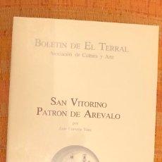 Libros antiguos: SAN VITORINO. PATRÓN DE AREVALO -LCV(13€). Lote 164974130