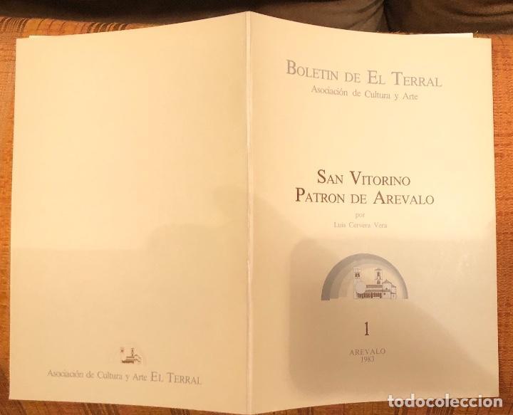 Libros antiguos: San Vitorino. Patrón de Arevalo -LCV(13€) - Foto 3 - 164974130