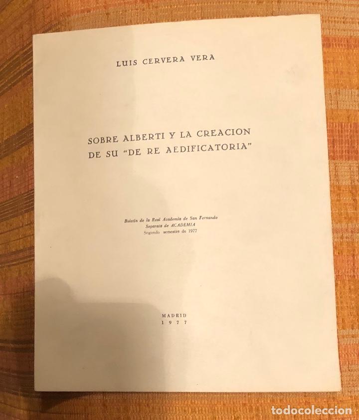 SOBRE ALBERTI Y LA CREACIÓN DE SU DE RE AEDIFICATORIA-LCV(13€) (Libros Antiguos, Raros y Curiosos - Bellas artes, ocio y coleccionismo - Otros)