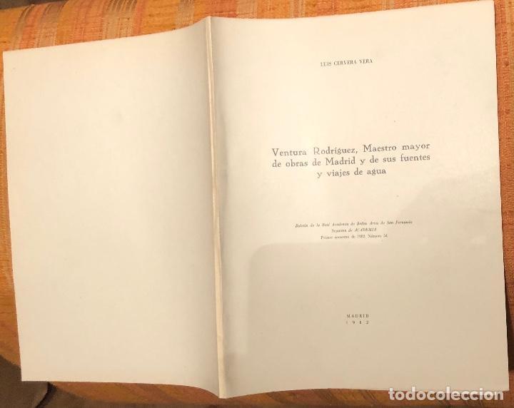 Libros antiguos: Ventura Rodríguez, maestro mayor de obras de Madrid y de sus fuentes y viajes de agua-LCV(13€) - Foto 3 - 164974694