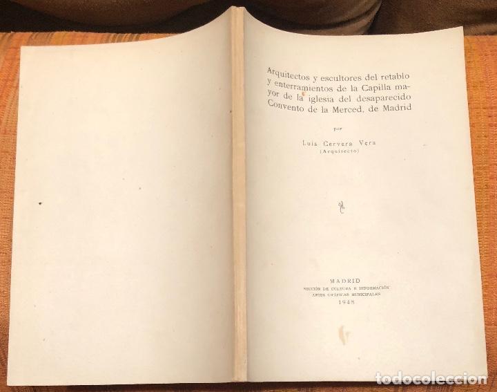 Libros antiguos: Arquitectsyescultors del retabloYenterramientos capilla mayor iglesiaconvento mercedMadrid LCV(13€) - Foto 3 - 164975098