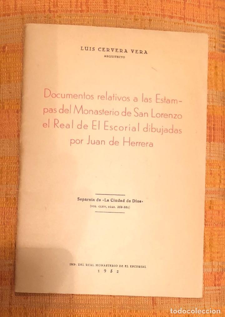 DOCUMENT RELATIVS A ESTAMPAS MONASTERIOSANLORENZO EL REAL EL ESCORIAL DIBUJADASJUANHERRERA LCV(26€) (Libros Antiguos, Raros y Curiosos - Bellas artes, ocio y coleccionismo - Otros)