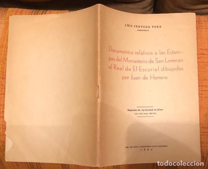 Libros antiguos: Document relativs a estampas MonasterioSanLorenzo el Real El Escorial dibujadasJuanHerrera LCV(26€) - Foto 3 - 164975526