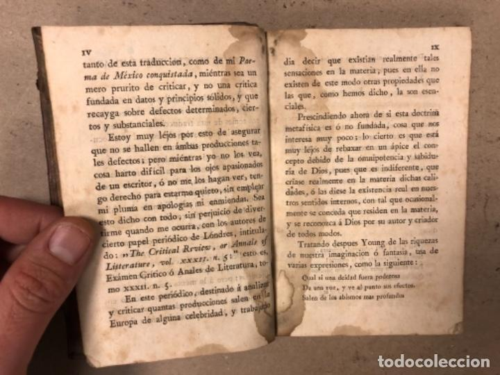 Libros antiguos: OBRAS SELECTAS DE EDUARDO YOUNG (TOMO III). AÑO 1804 MADRID EN LA IMPRENTA REAL. - Foto 4 - 164978326