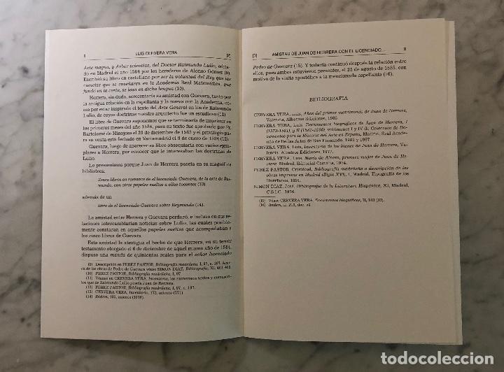Libros antiguos: Amistad de Juan de Herrera con el licenciado Pedro de Guevara-BIFG-LCV(13€) - Foto 3 - 164984646