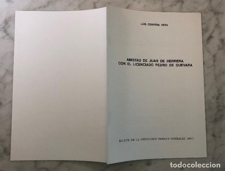Libros antiguos: Amistad de Juan de Herrera con el licenciado Pedro de Guevara-BIFG-LCV(13€) - Foto 4 - 164984646