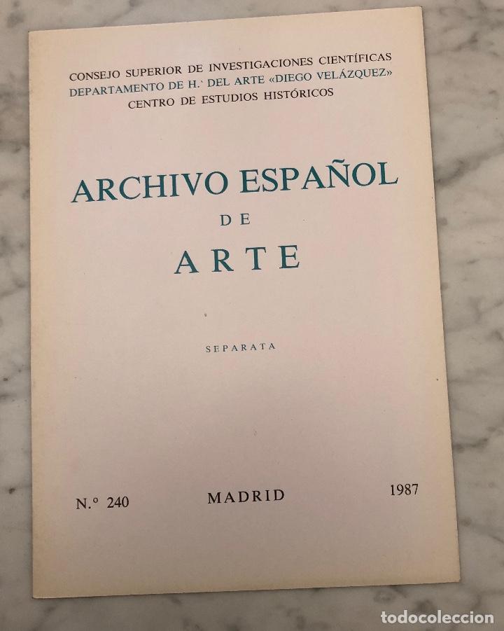 ARCHIVO ESPAÑOL DE ARTE-CSIC- MADRID 1987-LCV(13€) (Libros Antiguos, Raros y Curiosos - Bellas artes, ocio y coleccionismo - Otros)