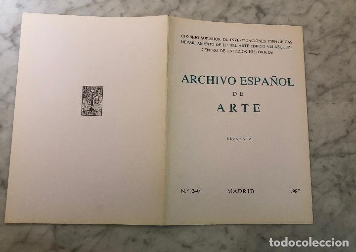 Libros antiguos: ARCHIVO ESPAÑOL DE ARTE-CSIC- Madrid 1987-LCV(13€) - Foto 5 - 164984734