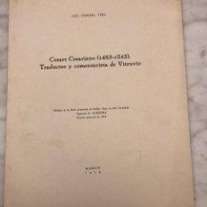 Alte Bücher - Césare Césariano 1483-1543. Traductor y comentarista deVitrubio-RABASF-LCV(13€) - 164984766