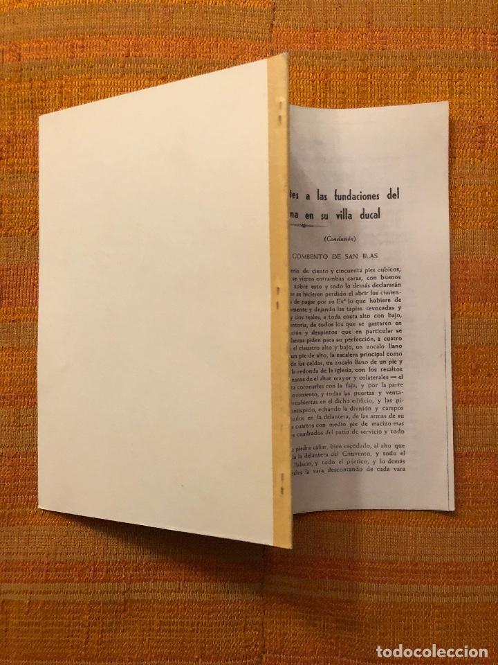 Libros antiguos: Documentos referentes a las fundaciones del Duque de Lerma en su villa ducal -LCV(13€) - Foto 3 - 164984846