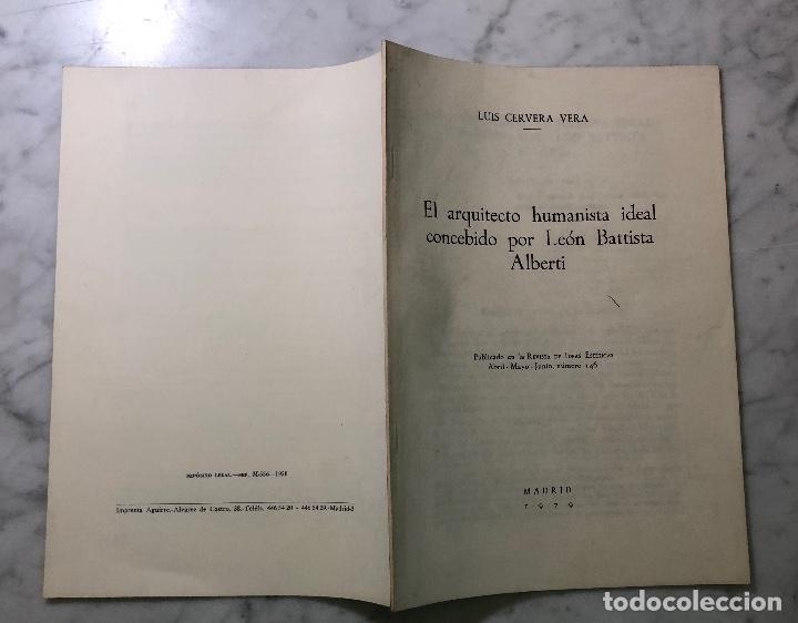 Libros antiguos: El arquitecto humanista ideal concebido por León Batista Alberti-RIE -LCV(13€) - Foto 4 - 164984938