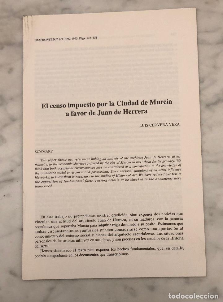 EL CENSO IMPUESTO POR LA CIUDAD DE MURCIA A FAVOR DE JUAN DE HARRERA -IMAFRONTE-MURCIA-LCV(13€) (Libros Antiguos, Raros y Curiosos - Bellas artes, ocio y coleccionismo - Otros)