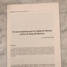 Libros antiguos: EL CENSO IMPUESTO POR LA CIUDAD DE MURCIA A FAVOR DE JUAN DE HARRERA -IMAFRONTE-MURCIA-LCV(13€) . Lote 164984978