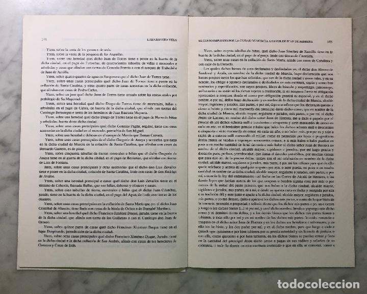 Libros antiguos: El censo impuesto por la ciudad de Murcia a favor de Juan de Harrera -IMAFRONTE-Murcia-LCV(13€) - Foto 3 - 164984978