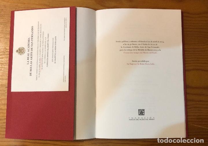 Libros antiguos: Memoria del acto de entrega de la medalla de honor2003a la fundación amigos del museo del Prado(11€) - Foto 3 - 164985170