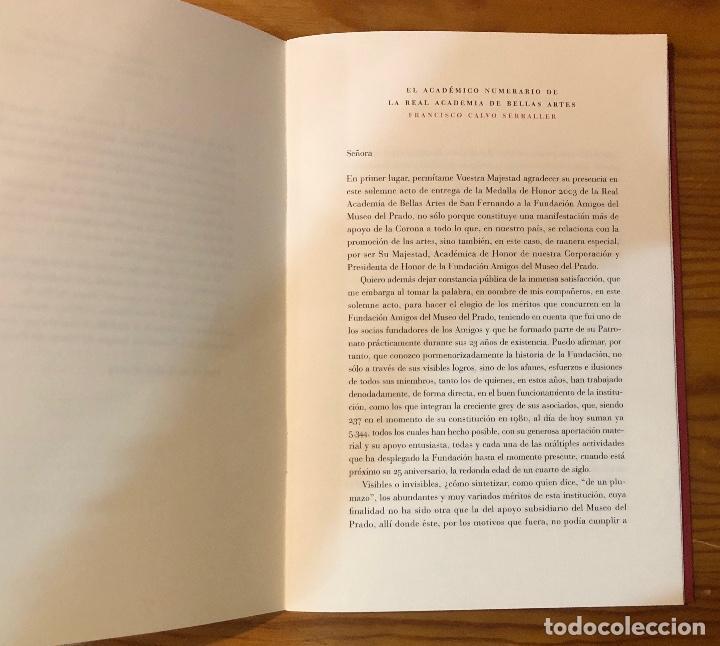 Libros antiguos: Memoria del acto de entrega de la medalla de honor2003a la fundación amigos del museo del Prado(11€) - Foto 5 - 164985170