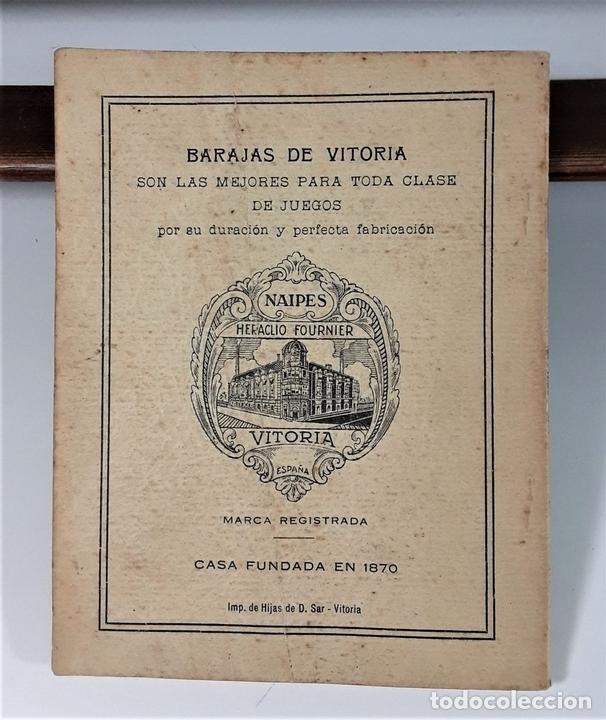 Libros antiguos: JUEGOS DE NAIPES ESPAÑOLES. EDITORES HIJOS DE H. FOURNIER. VITORIA. 1933. - Foto 7 - 165050594