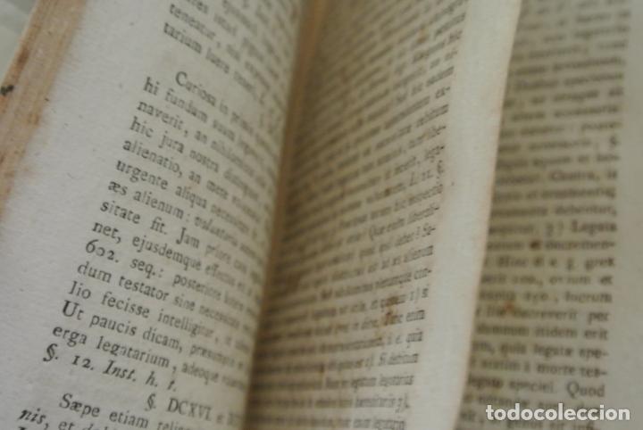 Libros antiguos: Recitaciones in elementa juris civilis 1726. Antiguo libro - Foto 4 - 165132442