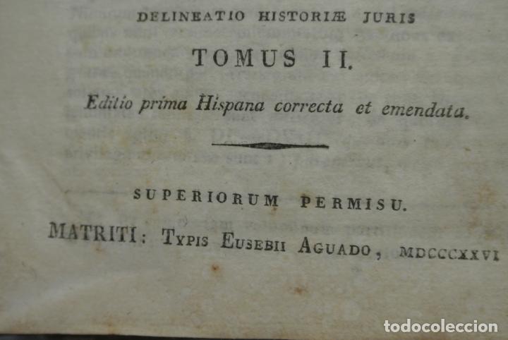 Libros antiguos: Recitaciones in elementa juris civilis 1726. Antiguo libro - Foto 6 - 165132442