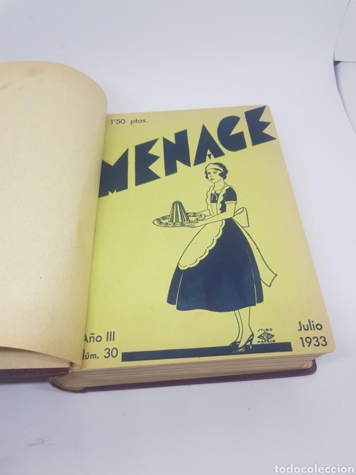 Libros antiguos: Tomo de la revista menaje de cocina año 1933 época República española - Foto 2 - 165183885