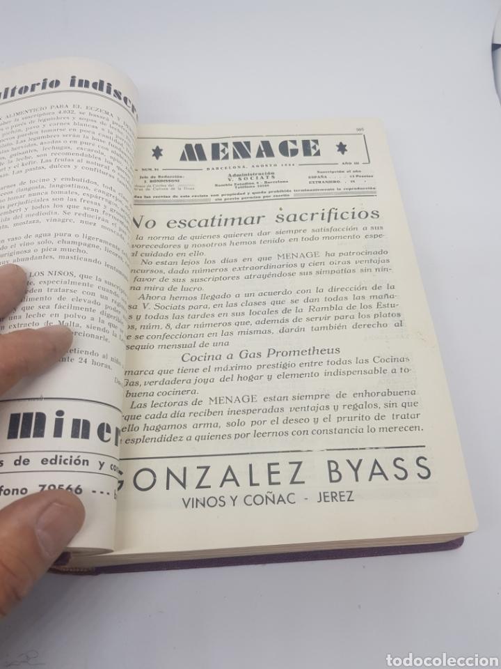 Libros antiguos: Tomo de la revista menaje de cocina año 1933 época República española - Foto 3 - 165183885