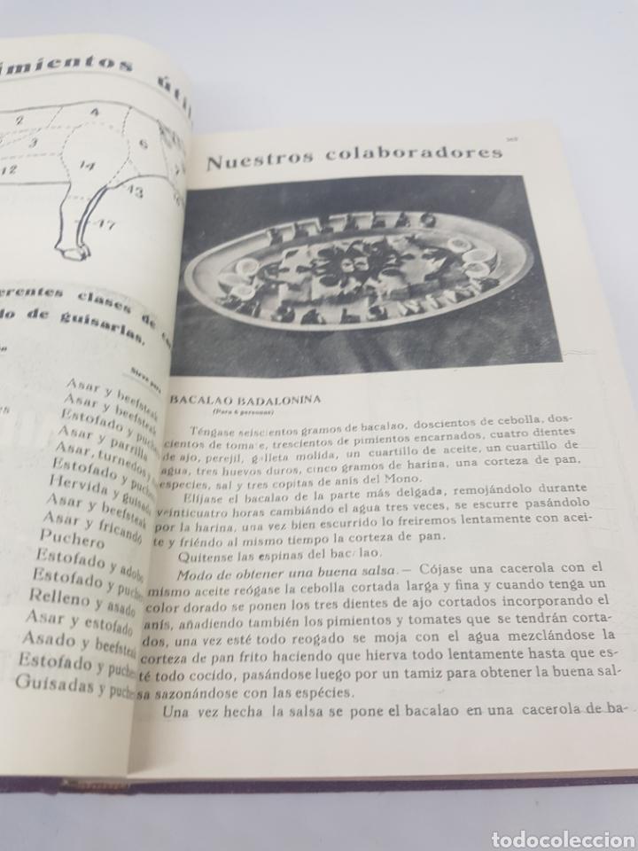 Libros antiguos: Tomo de la revista menaje de cocina año 1933 época República española - Foto 6 - 165183885